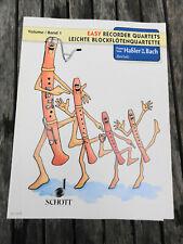 Schott, Leichte Blockflötenquartette Band 1