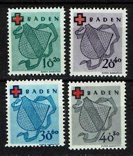 Baden 42-46 A meist postfrisch (43 A mit Gummifehler), Mi. für ** 110,-
