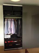 Ikea Pax Double Sliding Wardrobe Grey Doors Black Brown Vaneer