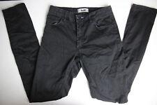 Acne Womens Flex S Satin Black Pants 28/32