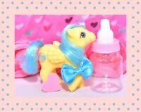 ❤️My Little Pony MLP G1 Vtg First Tooth Baby Bouncy Beach Ball Pegasus Yellow❤️