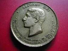 AMN. ESPAGNE PETITE MEDAILLE ALPHONSE XII VALOR DISCIPLINA LEALTAD 1873 1874