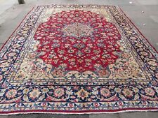 Old Hand Made Traditional Persian Rugs Oriental Wool Red Large Carpet 370x265cm