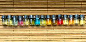 *15 Qty Sample Size NATURAL FRAGRANCES OILS for BODY / BURNING OIL GIFT SET