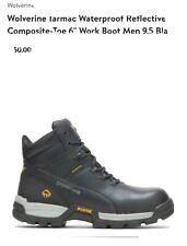 "Wolverine Men's Tarmac 10304 Black Leather 6"" Wp Eh Composite Toe Boot 9.5"