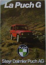 Puch G 230G 280 GE 240 GD 300 GD 1982 original Foldout Brochure French MB GWagen