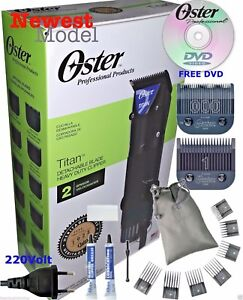 OSTER Titan 220v Professional Hair Clipper 76076-410 PLUS Universal 7 Combs Set