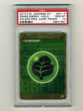 Pokemon PSA 10 GEM MINT Grass Energy Japanese Promo Secret Rare Gold Card XY-P