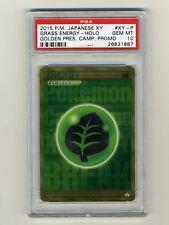 Pokemon PSA 10 GEM MINT Grass Energy Japanese Promo Secret Rare Gold Card XY-P