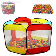 Play Balls Plastic 200 Pit Balls Click N Play Storage Mesh Bag Storage Durable