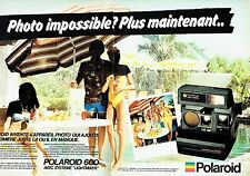 PUBLICITE ADVERTISING 027  1981  Polaroid (2p) appareil photo Autofocus 660 land