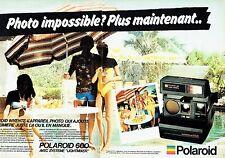 PUBLICITE ADVERTISING 027  1981  Polaroid (2p) appareil photo Autofocus 660 land