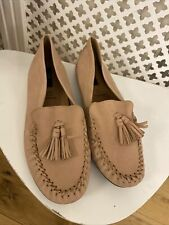 BNWT M&S SIZE 6.5 Moccasins Shoes Pump Shoes 100% Leather Pink New