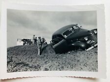 Vintage 1940-50's Photograph of Car Accident w/ Policemen