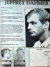 "JEFFREY DAHMER, A/K/A ""MILWAUKEE CANNIBAL"", SERIAL KILLER, 8"" x 10"" B/W 1982"
