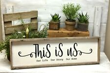 This Is Us, Wood Sign, Housewarming Gift, Family Saying, Mother's Day Idea