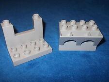 Lego Duplo ritterburg de 4777 + 4864 opaco + opaca torres estaño gris claro