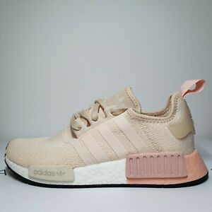 Adidas NMD R1 Women Linen Vapour Pink White casual Sneakers Sz 5.5 - 9.5 EE5179