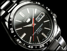 New!! SEIKO 5 SNKE03 SNKE03K Automatic Analog Stainless Steel Black Men's Watch