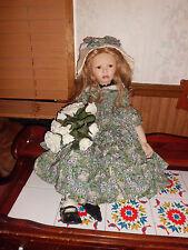 "Christine Orange Emma 29"" tall porcelain doll w/coa 0686/750 elite collection"
