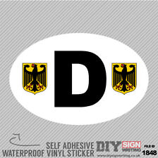 D Deutschland Germany Abroad Self Adhesive Vinyl Sticker Decal Window Car Van Bi