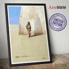 STAR WARS Fine Art Poster EPISODE I - Anakin Shadow Darth Vader - Idea Regalo