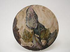 Ruscha plato muro plato hojas German Art Pottery wall plate