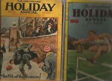 GREYFRIARS HOLIDAY ANNUAL 1929 Boys & Girls + 1941 ANNUAL for Boys Hc 2 BOOKS