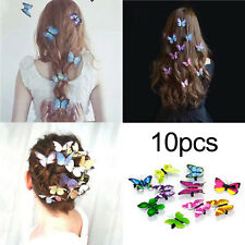 10Pcs Women Butterfly Hair Clamps Clips Barrette Grips Bridal Wedding Accessory