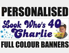 PERSONALISED 1ft x 3ft PVC BIRTHDAY BANNERS 18TH 21ST 40TH 50TH 60TH WEDDING