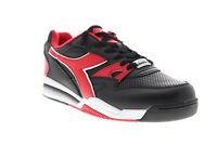 Diadora Rebound Ace 173079-C0935 Mens Black Leather Low Top Sneakers Shoes