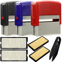 Personalised DIY Self Inking Rubber Stamp Kit Customised Business Name Address