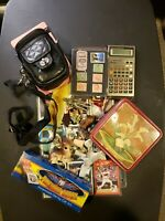 Vintage misc junk drawer lot Stamps, Baseball Cards etc....