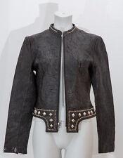 Thomas Wylde Lederjacke Nieten Gr.36 Leder Schwarz Leather Jacket Black
