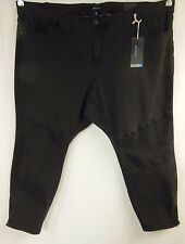 NEW Autograph Washed Black Stretch Denim Zip Ankle Jeans Plus Size 26 BNWT #R18