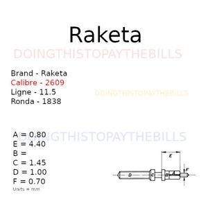 Raketa 2609 - Winding Stem - Ronda 1838 - 11.5''' (BC967)