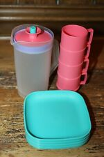 Vintage Tupperware MINI SERVE IT Children's Toy Serving Set Mugs Pitcher Plates