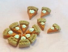 Pumpkin Pie Slices ( 6 ) Miniature Doll Food - Polymer Clay Food Play Scale 1:6