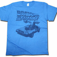 Back To The Future T Shirt - Blue Delorean 100% Official Rare US Import