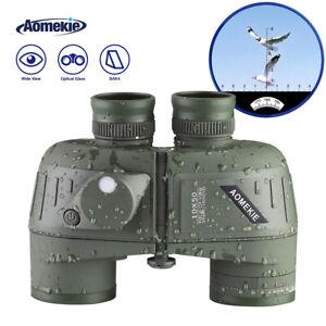Fernglas 10X50 mit Entfernungsmesser Kompass Ferngläser Wasserdicht Militär Jagd