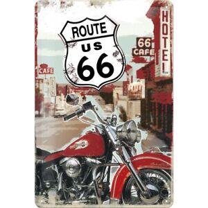 Blechschild '' ROUTE 66 '' 20x30 gewölbt geprägt Nostalgic Art