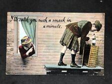 Vintage Postcard: Comic Seaside Humour #B128: Burlesque Series: Posted 1910