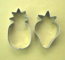 Fruit Strawberry Pineapple Fondant Pastry Baking Metal Cookie Cutter Set