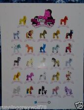 The My Little Pony Project 25 Ponies for 25 Years Poster Anniversary Celebration
