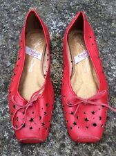 Zapatos Vintage     Rojos Talla 35 Piel