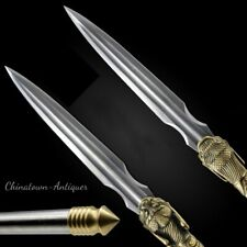 Dragon-howling Spear Pike Lance Pattern Steel Spearhead Sharp Battle Ready #1828