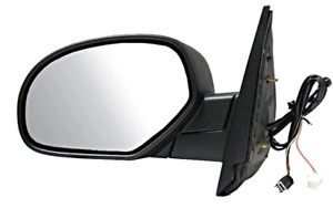 Fits 07-13 Avalanche 07-14 Suburban Left Driver Pwr Mirror Ht Puddle Manual Fold