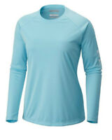 NEW Columbia PFG Tidal Tee Long Sleeve Shirt Clear Blue, Size: S-L
