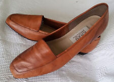 Enzo Angiolini Leather Women's Shoes Flats 8 M Camel Leather Soles Hand Made