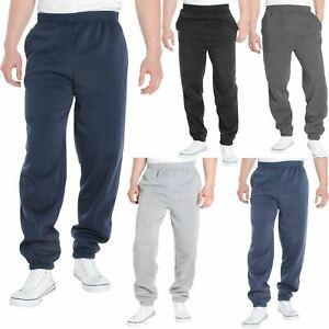Mens Fleece Elasticated Jogging Bottoms Track Pants Casual Joggers Trousers S 5X